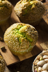 Homemade Green Pistachio Muffins