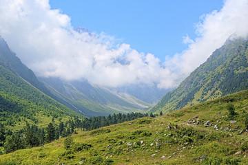 Ravine of Bilyagidon river, Caucasus, Russia