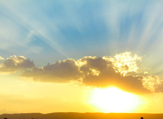 Vibrant Cloudscape At Sunrise