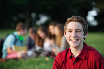 Laughing Male Teen