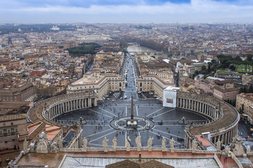 Rome, Italy. St. Peter's Cathedral in Vatican
