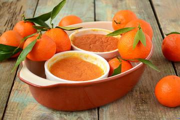 baked tangerine cream