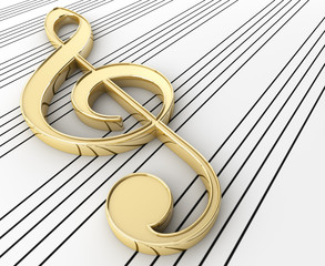 Gold Treble Clef
