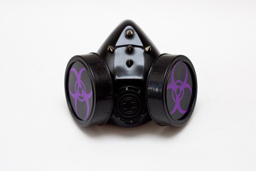 Cyber goth spiked gas mask
