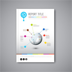 Modern Vector abstract brochure report design template
