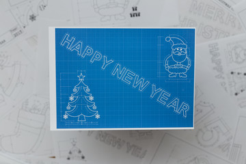 New Year Symbols Blueprint