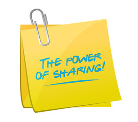 the power of sharing memo post