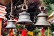 large metallic bells in  Naina Devi Temple at Nainital, India