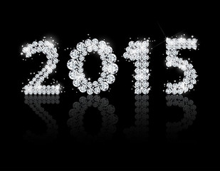 Brilliant text for the new year 2015. Vector background