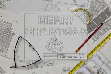 Merry Christmas Blueprint
