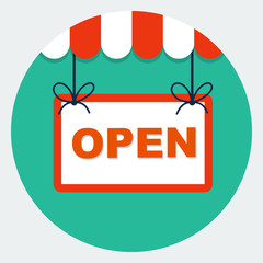 Vector open sign