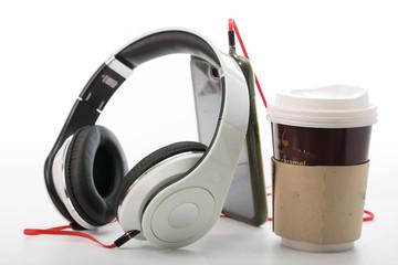 White Headphones Isolated