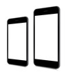 Two sizes of vector smartphones in angled position. - 72277512