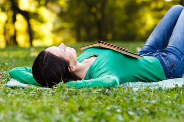 Woman resting in park
