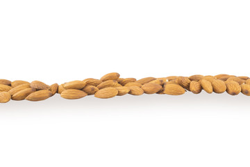 Strip spilled almonds