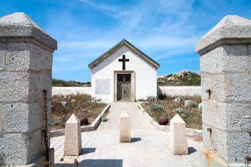 The Cemetery of officers at Cala Ghiunco on the Lavezzi island