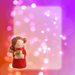 Greeting christmas card angel