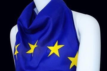 EU Einheits Kleidung an Schaufenster Puppe, Union Kleid, schwarz