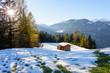 canvas print picture - Winter und Herbst