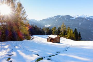 Herbst- und Winterlandschaft