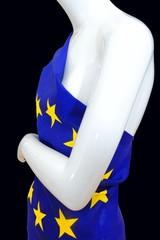 EU Einheits Kleid an Schaufenster Puppe, Unionskleid, schwarz