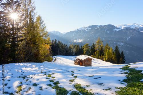 canvas print picture Winter und Herbst