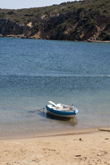 Little boat at beach
