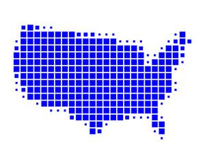 Karte der USA