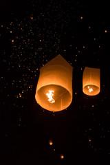 yeepeng Firework Festival in Chiangmai, Thailand