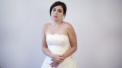 Emotional Bride to Be. Sad and Insecure