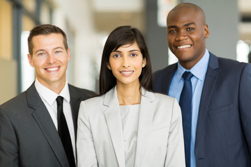 multicultural business executive in office