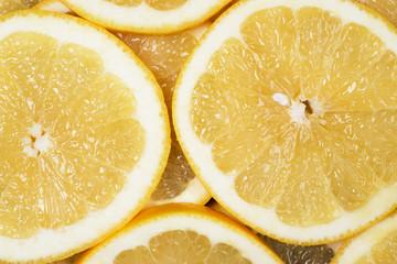 fresh juicy sliced grapefruit background