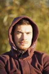 Portrait Of Man In Hoodie