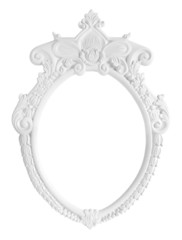 White Oval Photo Frame isolated on white background