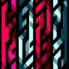 vintage crystal geometric seamless pattern