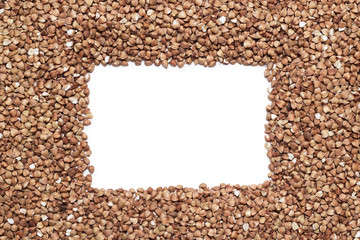 buckwheat with copy space in the middle