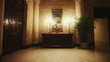 Tilt up of Beautiful Interior of Luxurious Hotel