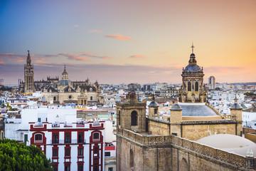 Seville, Spain City Skyline at Dusk