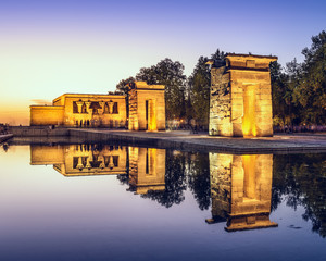Egyptian Temple Debod in Madrid, Spain