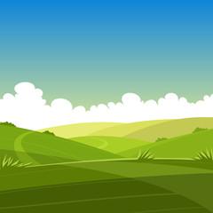 Cartoon Summer Landscape