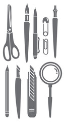 Stationery Set Vector Illustration