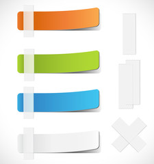 Colorful Labels with Tape