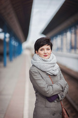 The girl at the train station