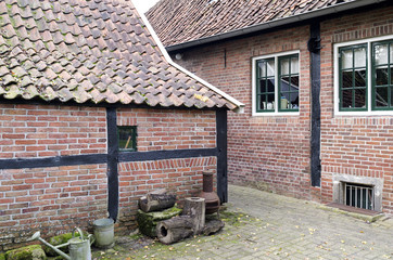 Cottage in the Open Air Museum in Ootmarsum in The Netherlands.