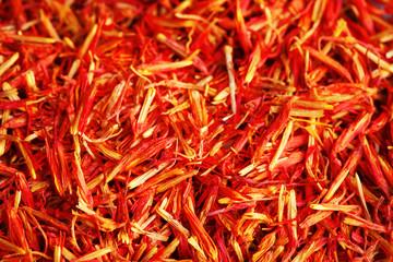 Dry saffron close up