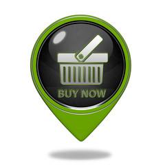 Buy now pointer icon on white background