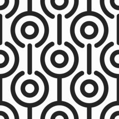 monochrome retro circle seamless pattern