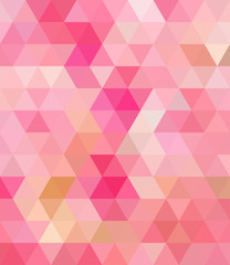 Pink Triangle Abstract Background