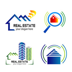 Collection of vector logos construction and home