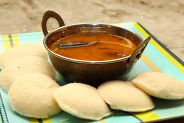 Idly with sambar Iddli is a traditional breakfast of South India